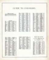 Colorado - Guide, United States 1885 Atlas of Central and Midwestern States